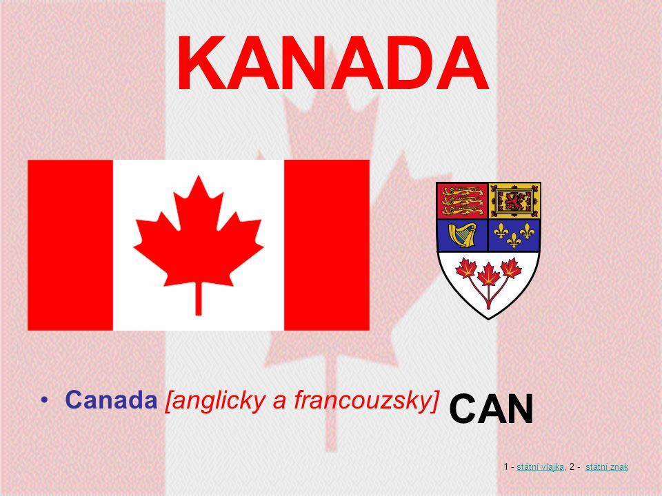 KANADA CAN Canada [anglicky a francouzsky]